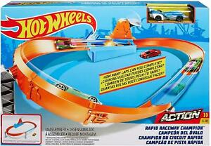 Hot Wheels Rapid Raceway Champion 1:64 Scale Car Race TrackVehicle Playset