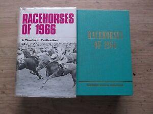 "TIMEFORM ""RACEHORSES OF 1966"" MINT IN A V/G ORIGINAL PLASTIC SLEEVED DUST JACKET"