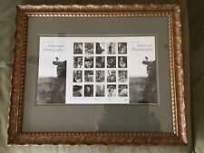 #3649 2002 37-cent American Photography full sheet of 20 Mnh framed