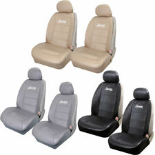 BLACK TAN BEIGE GRAY SIDELESS SEAT COVER SYNTHETIC LEATHER UNIVERSAL for Jeep