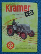 KRAMER / TRATTORE Tipo  K 33 / brochure - depliant originale anni '50