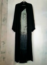 long black Ann Demeulemeester Dress Jacket slit button down Vintage s M ombre