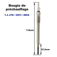 Bougie de préchauffage Fiorino Idea Qubo Mito 1,3l JTD Astra 1,3 CDTi Ignis Ddis