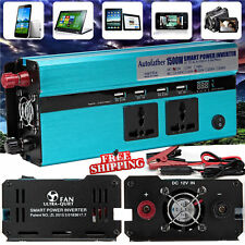 1500W/3000W WATT Car Caravan Modified Sine Wave Power Inverter DC 12V To AC 230V
