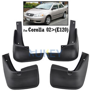 FRONT REAR FIT FOR TOYOTA COROLLA 2002~2008 MUD FLAP FLAPS SPLASH GUARD MUDGUARD