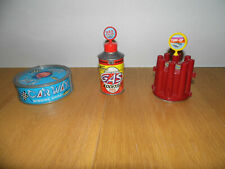 LOTTO Micro Machines GAS STATION ADDITIVE + TUNE-UP SHOP + CAR WAX Galoob 1989