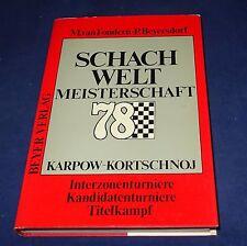 Schachweltmeisterschaften 78 Karpow - Kortschnoj