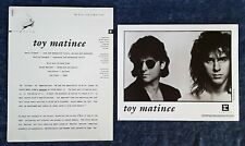 """TOY MATINEE -  8"""" X 10"""" BLACK & WHITE  PUBLICITY PHOTO - (5) PAGES OF INSERTS"""