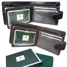 Visconti Cartera de Cuero Suave Para Hombre Negro Marrón Tarjetas ID de notas nuevo en caja de regalo HT9