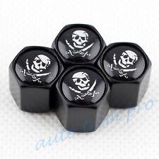 Car Wheel Tyre Tire Valve Stem Air Dust Cap Trim For Skull Head Pirate Caribbean