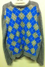 1990's Ecko Complex Jumper Wool Mens Men's XL Pullover Sweater Gray