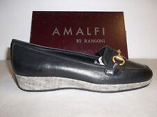 Amalfi by Rangoni Size 6.5 M Pescara Black Todi Leather Loafers New Womens Shoes