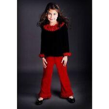 Greggy Girl Toddler Girls Black Velvet Rosette Christmas Outfit 2T **NEW**