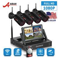 ANRAN 4CH Wireless Security Camera Surveillance System 1080P HD Outdoor 1TB CCTV