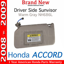 Genuine OEM Honda Accord Driver s Side Warm Gray NH686L Sunvisor 2008 - 2009 5fc7843faee