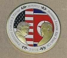 Donald Trump Kim Jong Un Gold Coin Summit Meeting President Supreme Leader Old