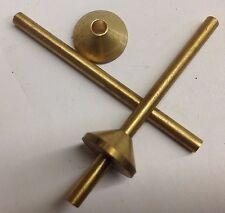 """SPRUE FORMER CONE 1/8"""" BRASS ROD 2"""" LONG RUBBER MOLD LOST WAX CASTING FORMADOR"""