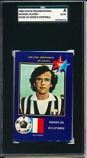 1990 * RARE * Russian soccer card of MICHEL PLATINI SGC = PSA A