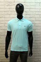 Polo Uomo Lacoste Taglia 4 ( M ) Maglia Cotone Maglietta Manica Corta Shirt Man