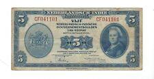 Netherlands Indies - 1943, 5 Gulden
