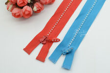 5 pcs 60cm long rhinestone Zippers Great for Western Shirt Clothing Accessories