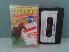 SINCLAIR ZX SPECTRUM TURF FORM BEAT THE BOOKIE 48K 128K +2