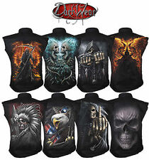 Spiral Direct Work Shirt,Biker/Skull/Rock/Metal/Tattoo/Skeleeton/Dragon/Wolf/Top