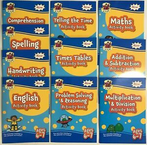 Year 2 Maths & English Homeschooling Activity workBooks Bundle of 10 Age 6-7 KS1
