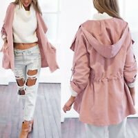 Fashion Women Warm Hooded Long Coat Jacket Windbreaker Parka Outwear 6 Colors