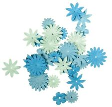 Paper Flowers Blue 4 Allsorts 1,5 To 1in 36 Refrigerator Rayher