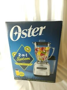 Oster Classic 2 in 1 System Blender w/ Travel Blend N Go Cup 8 Speeds Chrome