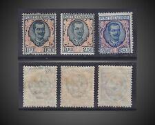 1901 -26 ITALY VICTOR EMMANUEL III VALUES 1L,2,5L , 5 L MINT H -LH SCT. 89,90,91