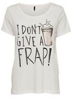 1/24 NEU ONLY Damen T-Shirt onlCOTTON S/S REGULAR PRINT TOP BOX ESS1 Gr. M weiß