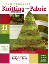 Knitting & Crocheting with Fabric Knitting Patterns Christmas Linda Bentz New