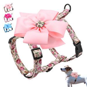 Nylon No Pull Female Dog Harness With Big Flower Puppy Large Dog Walking Vest