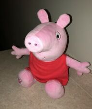"BUILD A BEAR 17"" PEPPA PIG PLUSH STUFFED ANIMAL TOY IN RED DRESS  RARE HTF"