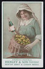 c1910 Henley & Son Cider Newton Abbot Henly's Cyder Advertising Postcard B113