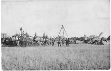 Eastern Washington Farming Agriculture Harvest Machinery Workers RPPC Postcard