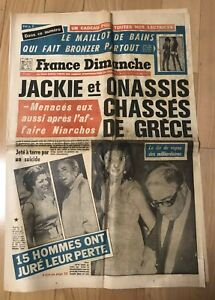 ►FRANCE DIMANCHE 1237/1970 ONASSIS- SARAPO - EDITH PIAF - SYLVIE VARTAN - SHEILA