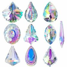 10pcs AB Coating Crystal Chandelier Lamp Lighting Drops Pendants Prisms Glass