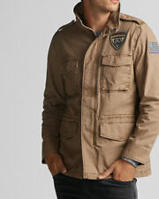 NWT EXPRESS Men/'s Suede Jacket SMALL Sherpa Collar Brown #6130