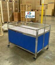 New Retail Display Island Cart Merchandiser Fruit Produce Foldable Clothing Rack