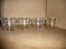 4 verres à eau - Hauteur 4 cm