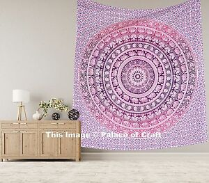 Indian Elephant Mandala Queen Boho Hippie Wall Hanging Throw Tapestry Bedspread