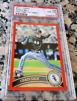 CHRIS SALE 2011 Topps RED SP Rookie Card Logo RC 3/245 PSA HOT Boston Red Sox $$