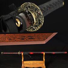 BLACK&RED DAMASCUS STEEL 8192 LAYERS KIRIHA BLADE JAPANESE SAMURAI KATANA SWORD