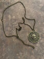 Pirates of the Caribbean Aztec Coin Pendant Necklace - Brand New And Sealed