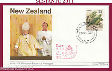 W520 VATICANO FDC ROMA GIOVANNI PAOLO II WOJITYLA  NEW ZEALAND WELLINGTON 1986