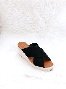 New Qupid Women's Criss Cross Slides Sandals Wedges