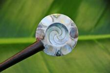 Handmade resin HAIR JEWELRY PIN STICK PICK with BEAUTIFUL sea SHELL SWIRLS  new